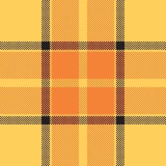 Piksel tło wektor wzór. plaid nowoczesny wzór. tkanina o kwadratowej fakturze. szkocka szkocka krata. ozdoba madras w kolorze piękna.