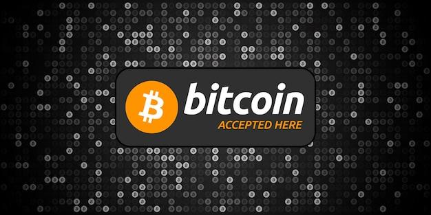 Piksele czarne tło bitcoin
