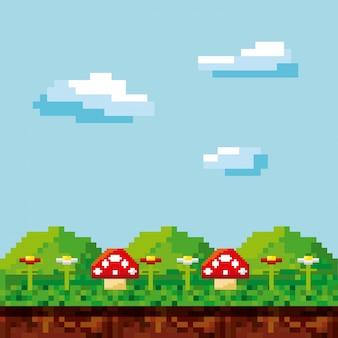 Piksele ikony gier wideo