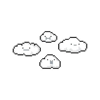 Pikseli sztuki kreskówka doodle chmura charakter.