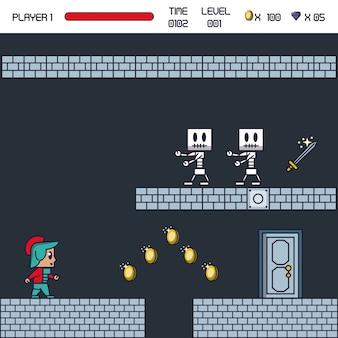 Pikselowa sceneria gry