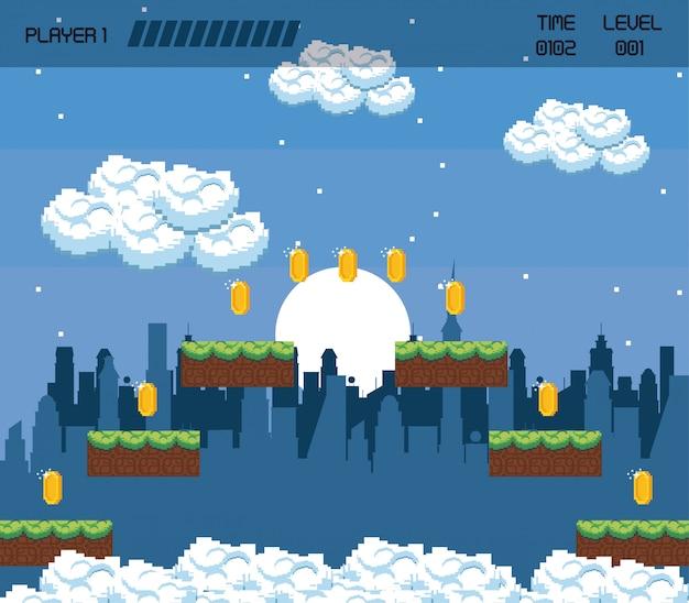 Pikselowa sceneria w grach miejskich