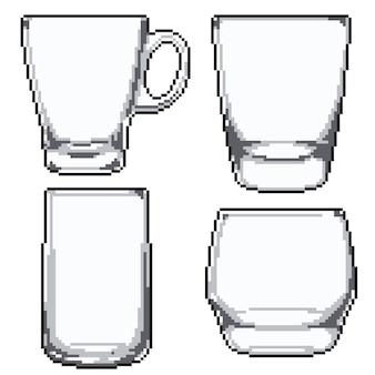 Pikselowa sztuka zestawu okularów