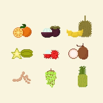 Pikselowa tajska owoc