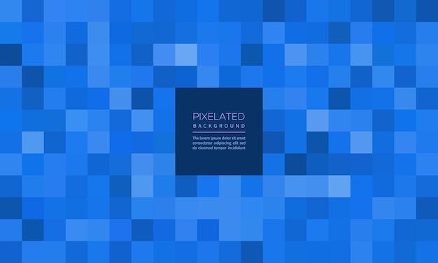 Pikselowe niebieskie geometryczne rozmycie tła