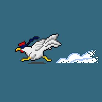 Pikselowy kurczak wybieg z opaską na oczy