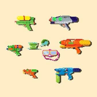 Pikselowy pistolet na wodę.