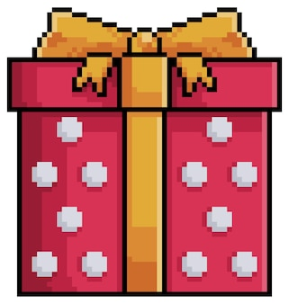 Pikselowy prezent świąteczny do gry