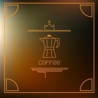 Piktogram kawy na brązowym tle pochodni