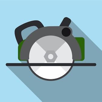 Piła tarczowa płaska ikona ilustracja na białym tle wektor symbol znak