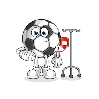 Piłka chora na ilustracji iv