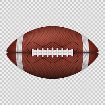 Piłka do futbolu amerykańskiego. realistyczna ikona.