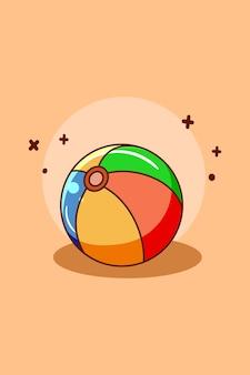 Piłka do siatkówki ikona ilustracja kreskówka