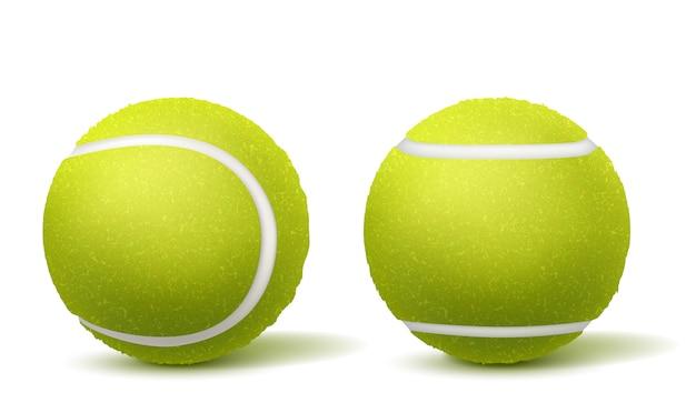 Piłka do tenisa, widok z boku realistyczny wektor