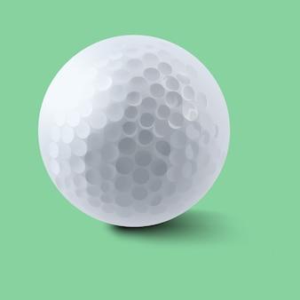 Piłka golfowa na zielonym tle
