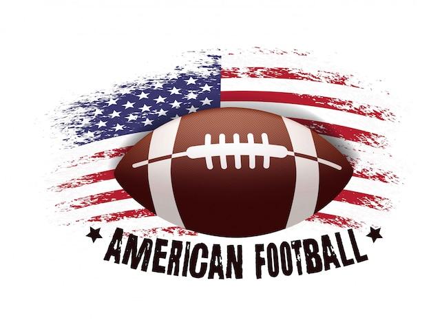 Piłka i amerykańska flaga