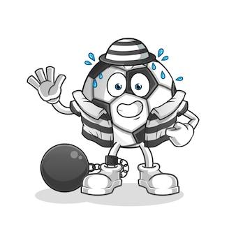Piłka kreskówka karnego
