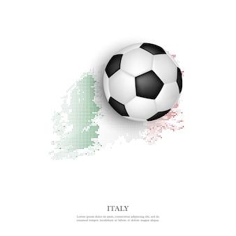 Piłka na włoskiej flagi.