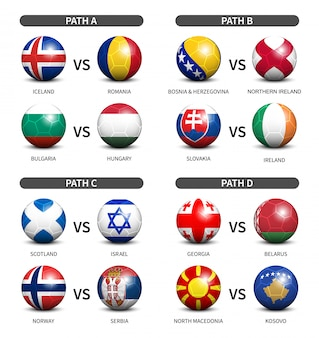 Piłka nożna 3d z flagą kraju