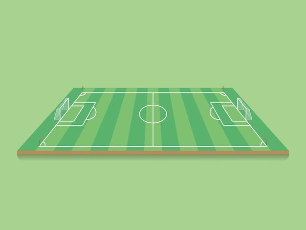 Piłka Nożna, Boisko Do Piłki Nożnej. Premium Wektorów