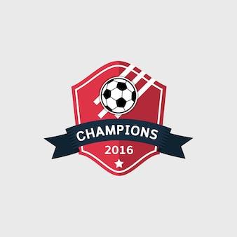 Piłka nożna futbolowa odznaka, wektorowa ilustracja