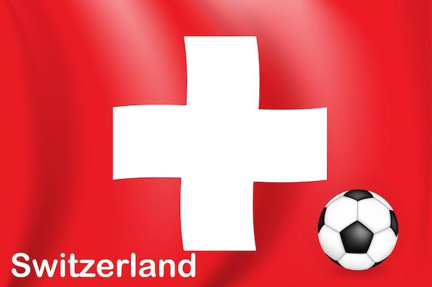 Piłka nożna gra w tle szwajcaria z flagą mistrzostwa