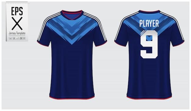 Piłka nożna jersey lub projekt szablonu zestawu piłkarskiego