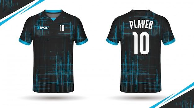 Piłka nożna koszulka szablon sport t shirt design