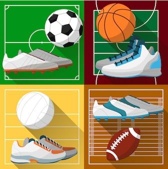 Piłka nożna, koszykówka, siatkówka, boisko do piłki nożnej.