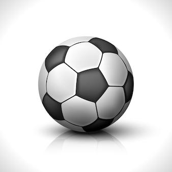 Piłka nożna na białym tle
