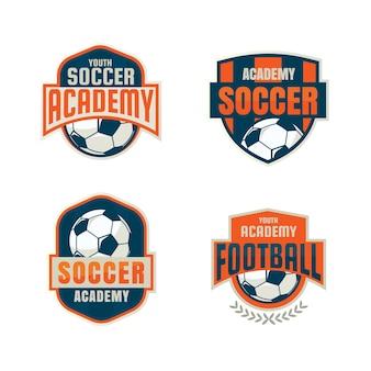 Piłka nożna odznaka logo szablon kolekcji.