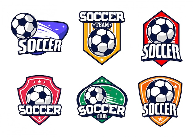 Piłka nożna odznaka wektor zestaw