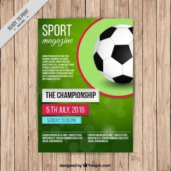 Piłka nożna okładkę magazynu