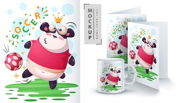 Piłka nożna, piłka nożna panda i merchandising