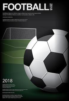Piłka nożna piłka nożna plakat ilustracji wektorowych