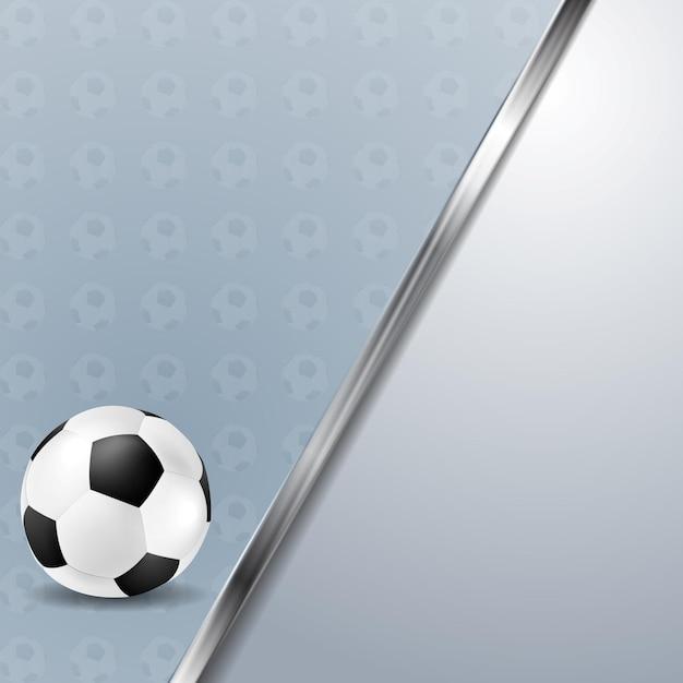 Piłka nożna piłka nożna tło z metalicznym paskiem. tło wektor