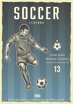 Piłka nożna plakat vintage