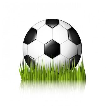 Piłka nożna projekt nad białą tło wektoru ilustracją