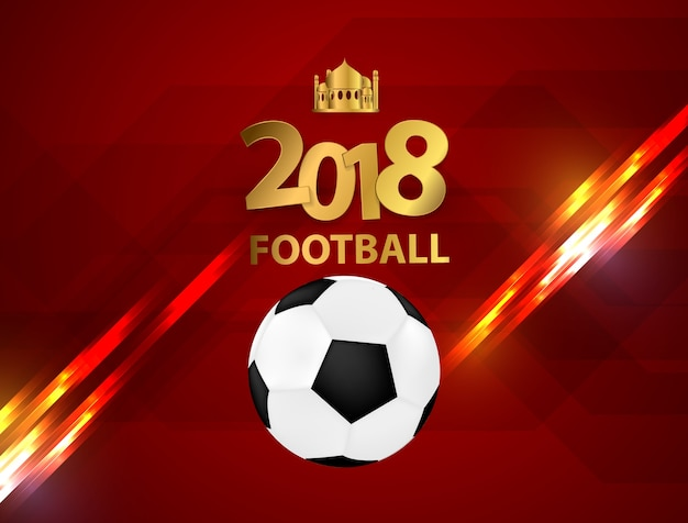 Piłka nożna puchar 2018 projekt stylowy tło