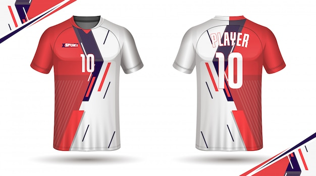 Piłka nożna szablon koszulki sportowe projekt t-shirt