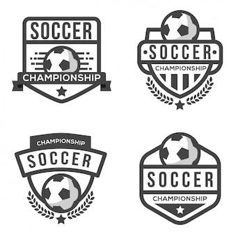 Piłka nożna szablon logo
