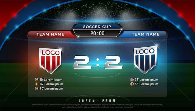 Piłka nożna tablica wyników zespołu a vs zespół b strategii nadawania graficzny szablon