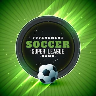 Piłka nożna turniej liga tło z miejsca na tekst