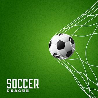 Piłka nożna uderza cel tło netto