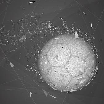 Piłka nożna w nowoczesnym abstrakcyjnym stylu
