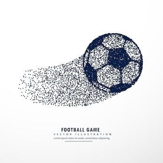 Piłka nożna wykonana z cząstek lub kropek