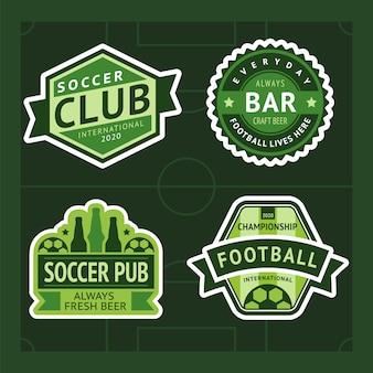 Piłka nożna zielony znaczek zestaw