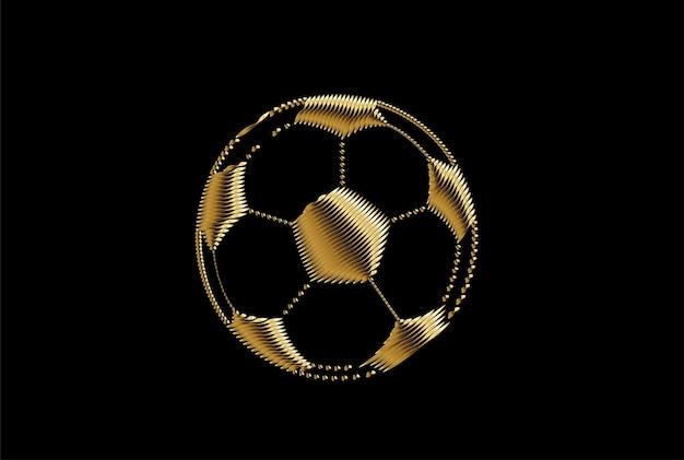 Piłka nożna złota ikona sztuki, ilustracja streszczenie wektor.