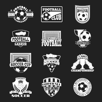 Piłka nożna znak wektor zestaw.