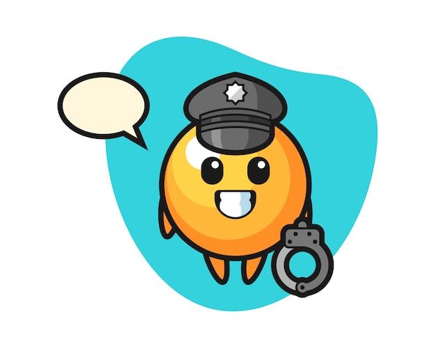 Piłka ping pongowa kreskówka jako policja